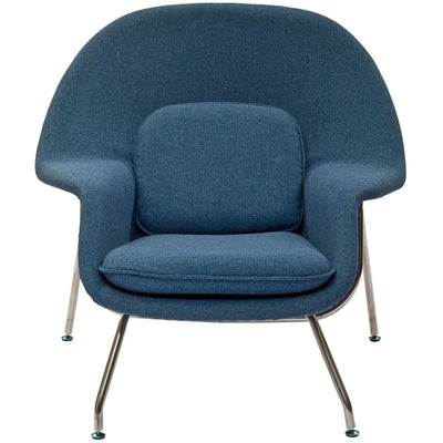 Wander Lounge Chair Blue Tweed