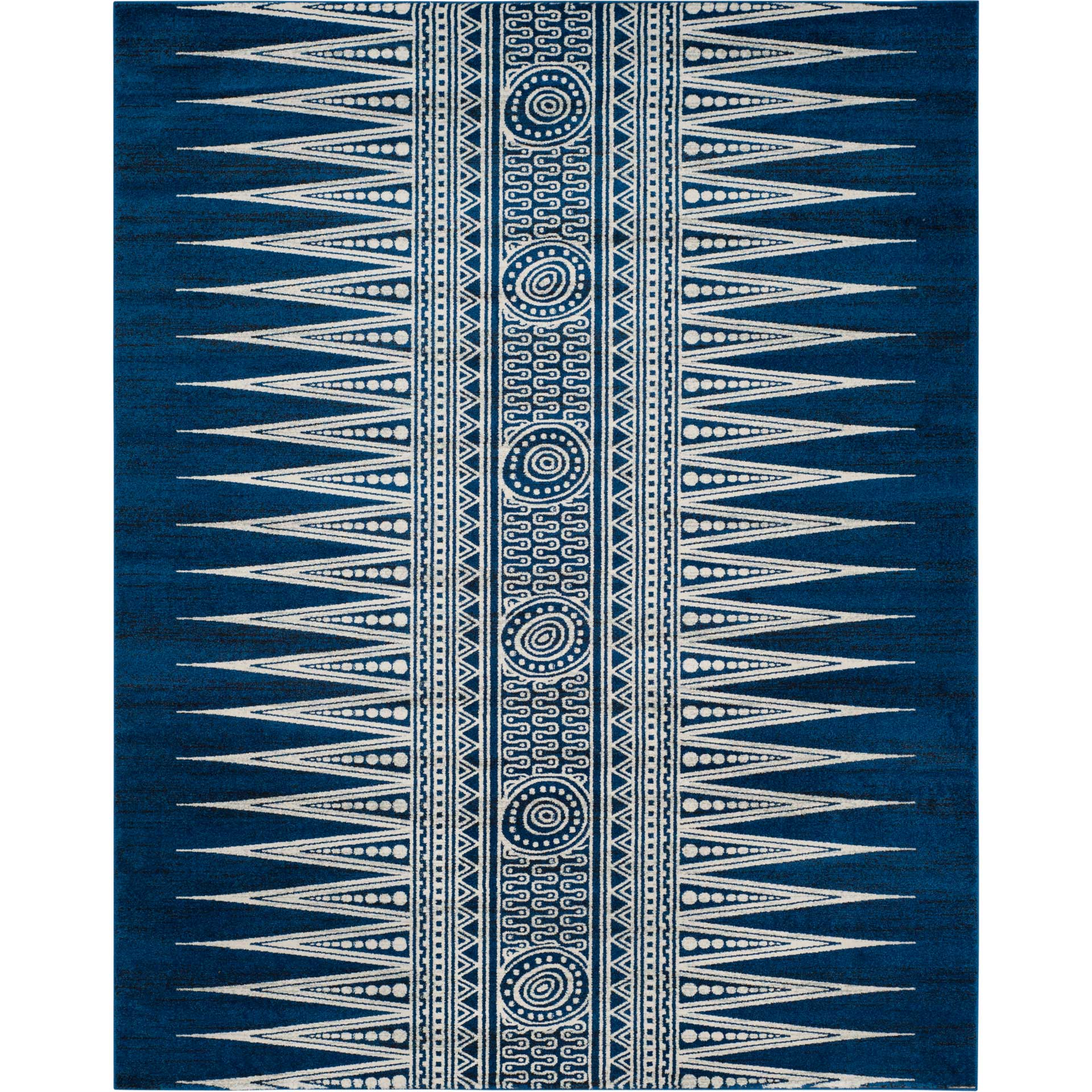 Evoke Tribal Royal/Ivory Area Rug