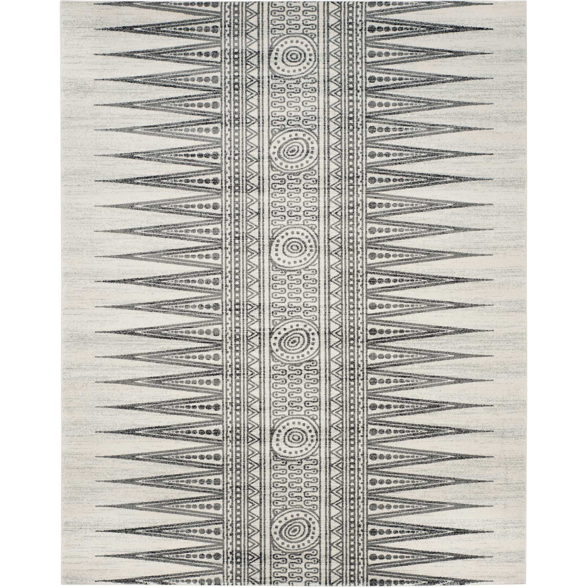 Evoke Tribal Ivory/Gray Area Rug