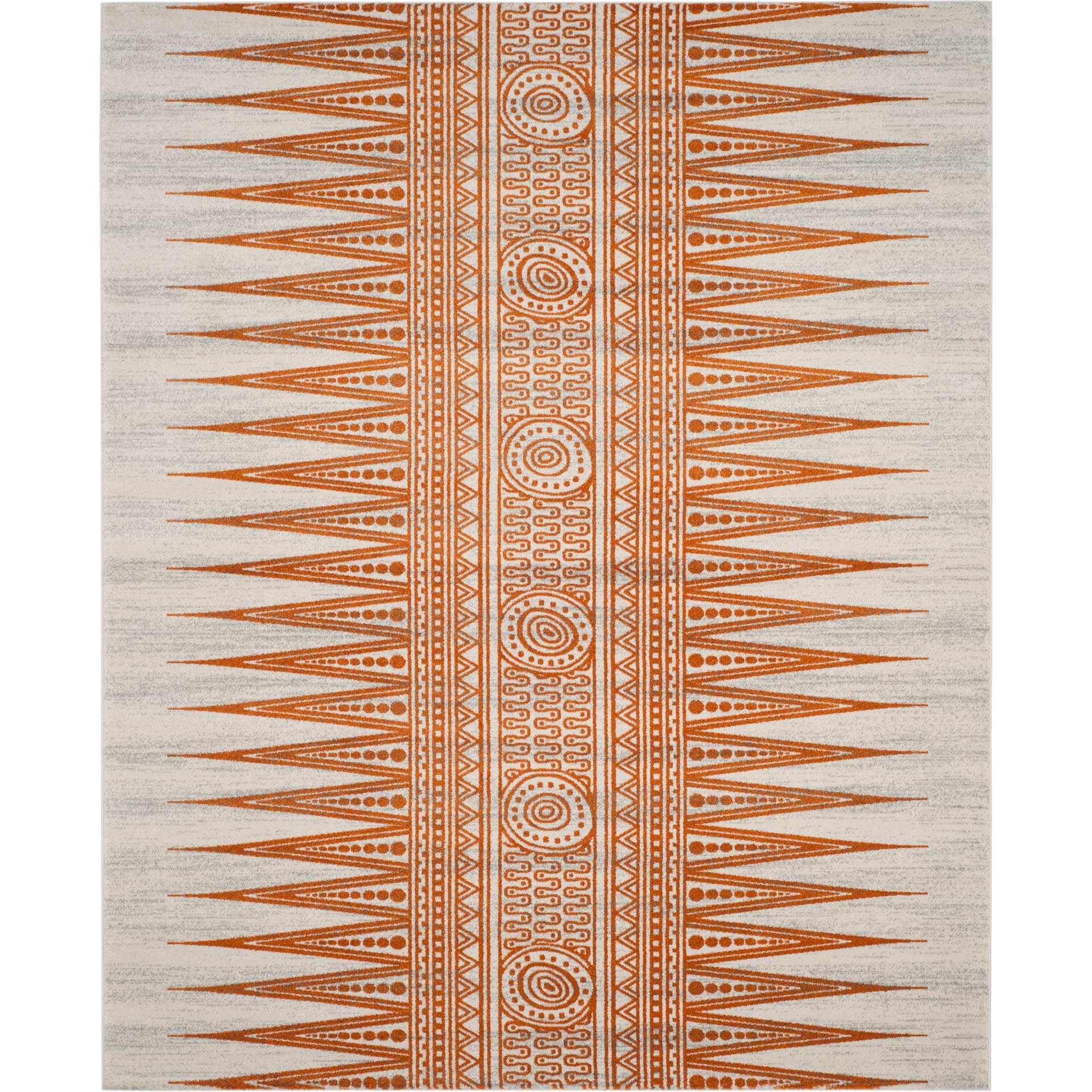 Evoke Tribal Ivory/Orange Area Rug