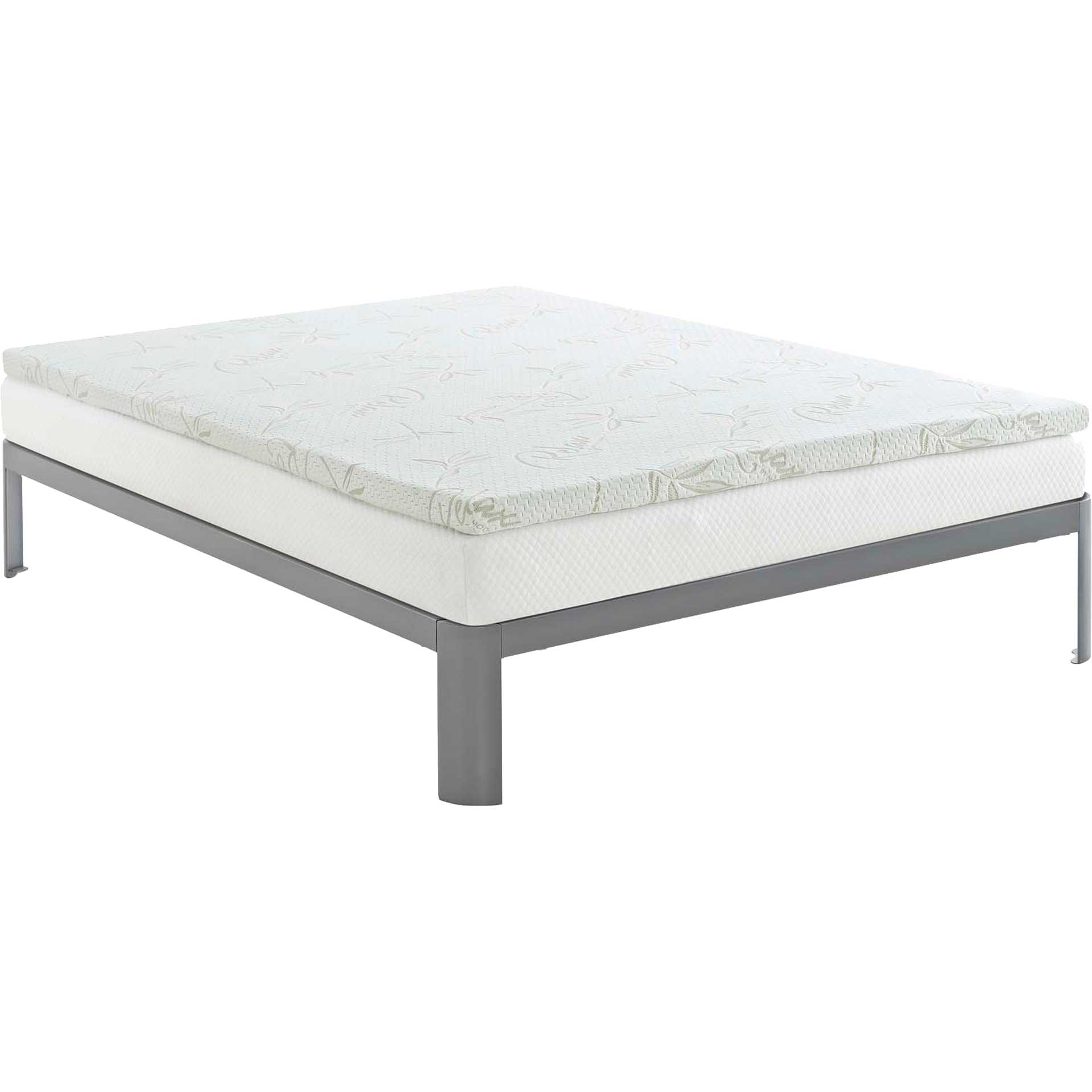 "Relax 2"" Gel Memory Foam Mattress Topper White"