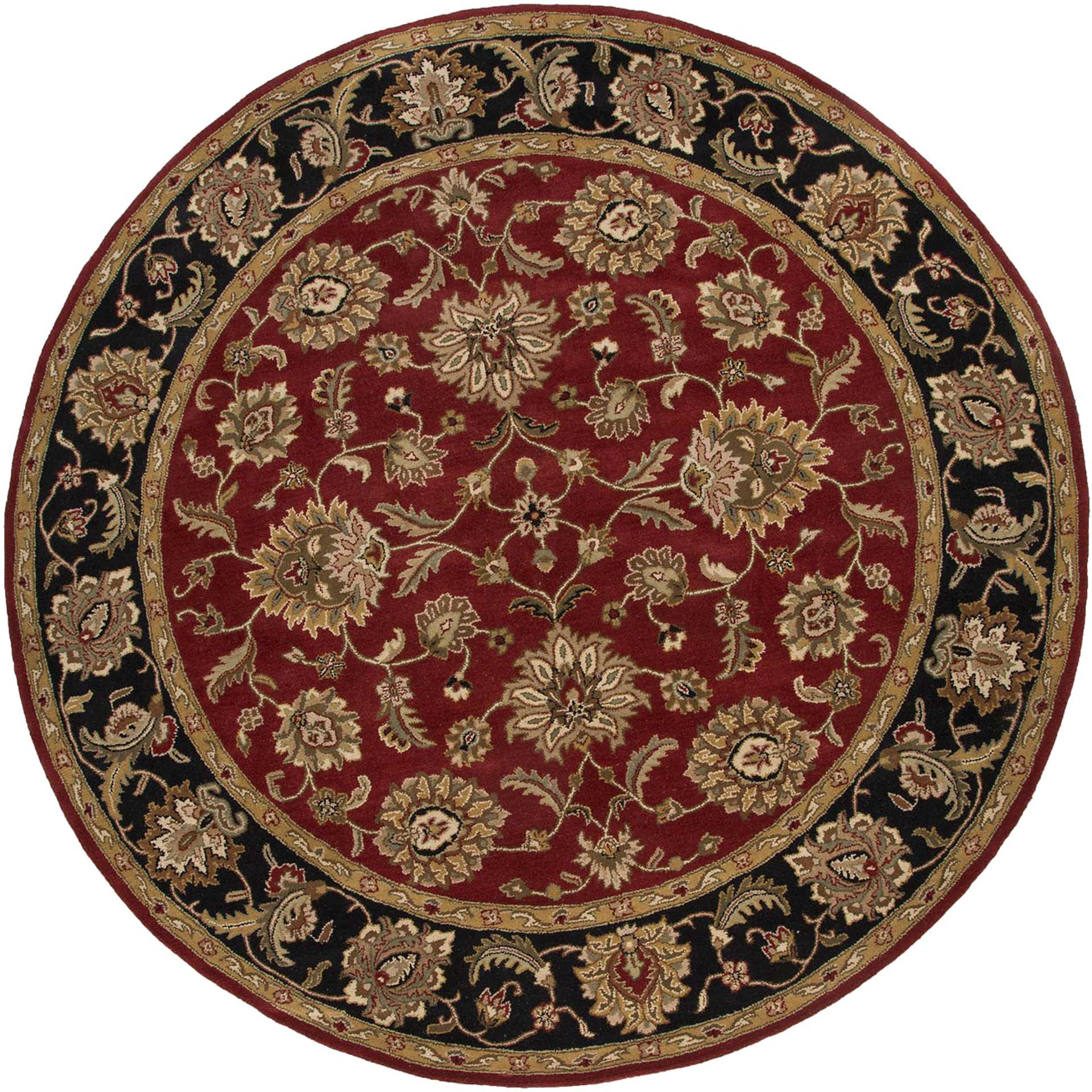 Mythos Anthea Red/Ebony Round Rug