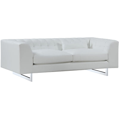 Vincent White Leather Sofa