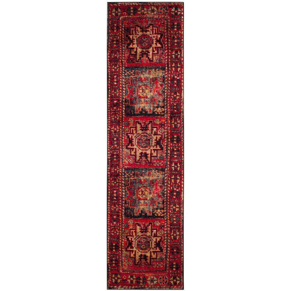 Vintage Hamadan Native Red/Multi Runner Rug