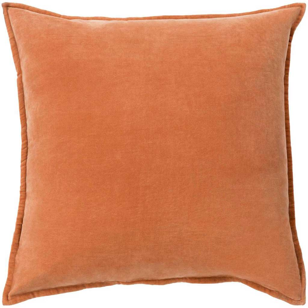 Smooth Velvet Rust Pillow
