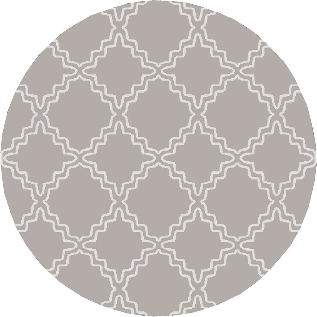 Horizon Diamond Gray/Ivory Round Rug