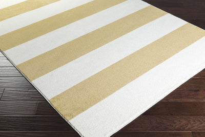 Horizon Striped Ivory/Gold Area Rug