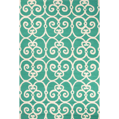 Barcelona Ironwork Blue/White Area Rug