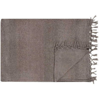Tessa Solid Gray Throw