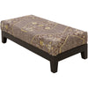 Zahara Charcoal/Light Gray/Beige Bench