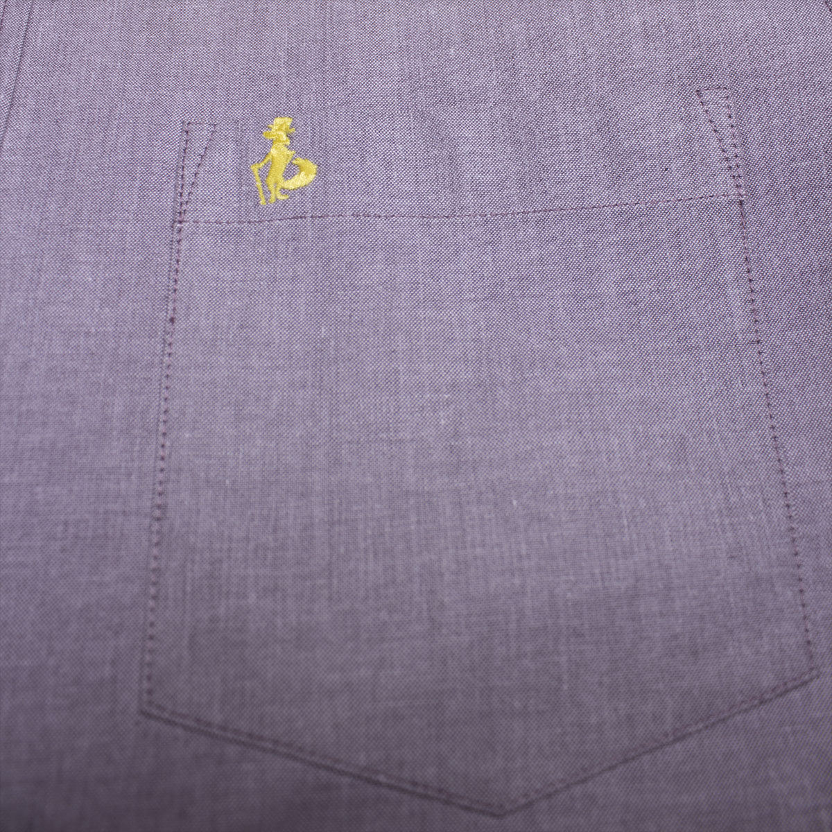 Lancaster Purple Solid Oxford Shirt
