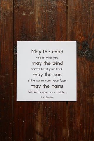 Quotable card - May the Road Rise To Meet you