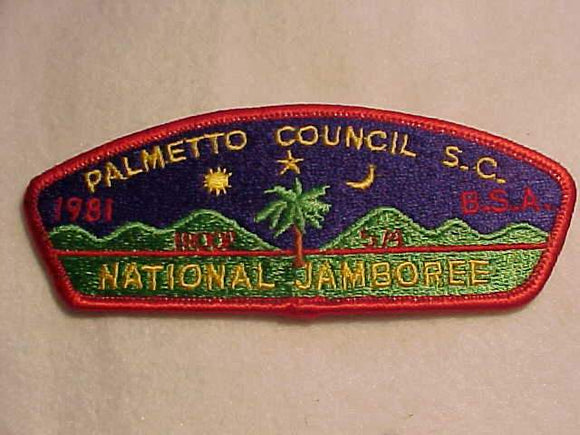 1981 NJ JSP, PALMETTO C., TROOP 574, RED BDR.