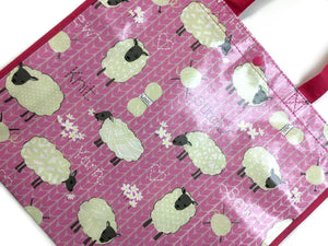 Pink Sheep Tote Bag, Lamb & Wool
