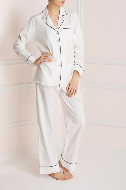Olivia Von Halle White coco cotton pajama workingirls lingerie
