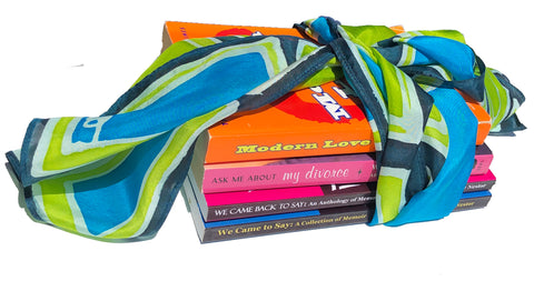 scarf with books