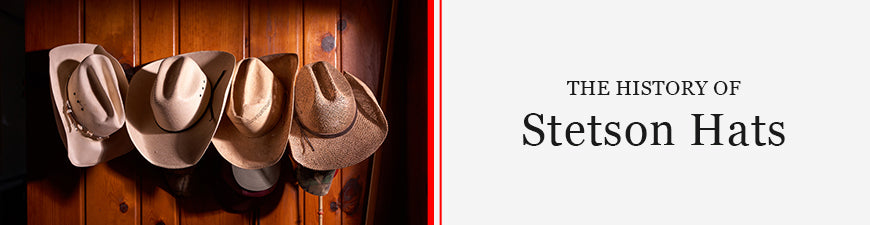 Stetson Hats on Hat Rack