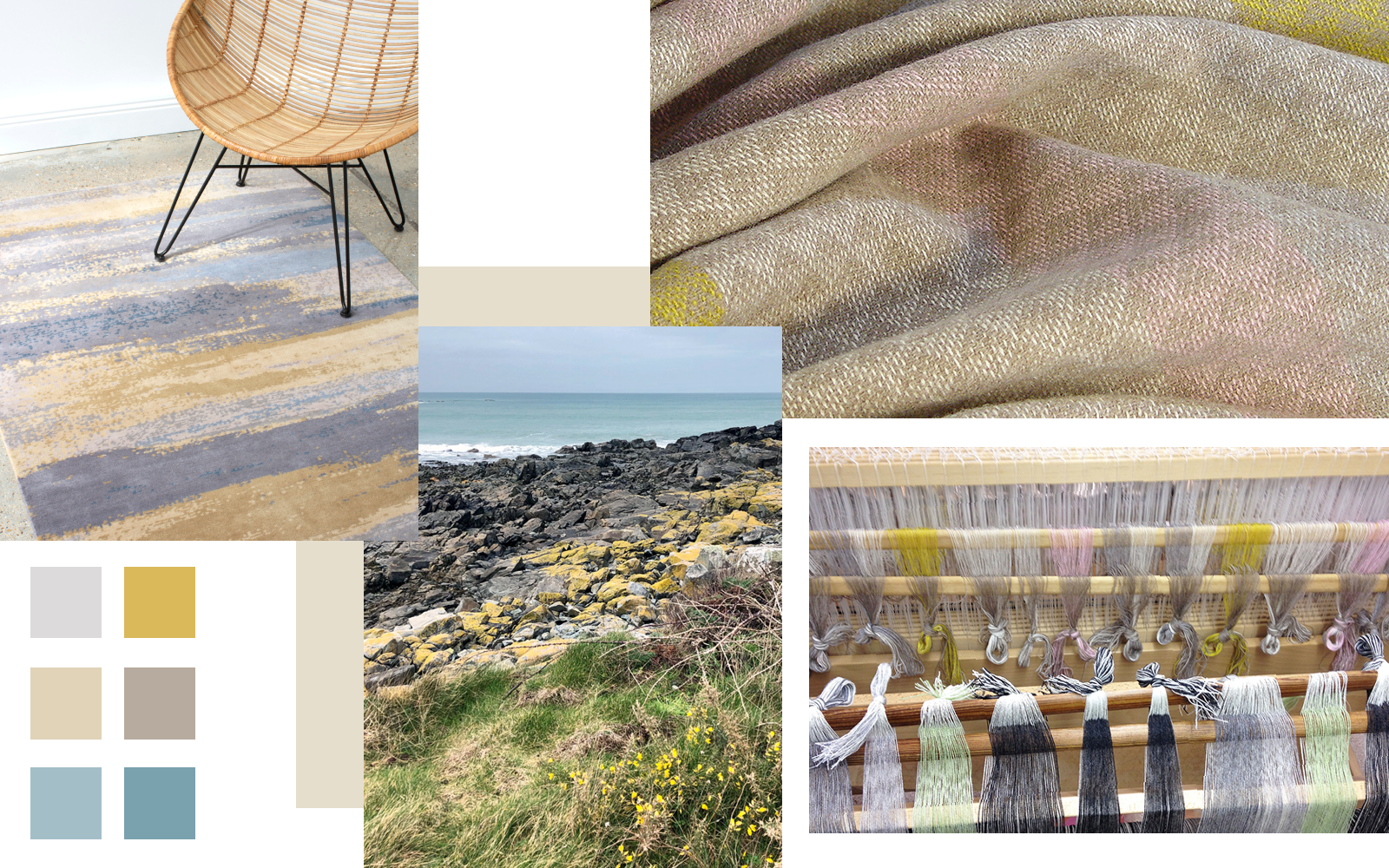 Claire Gaudion Artisan Textile Design | Colour Story Yellow mood board