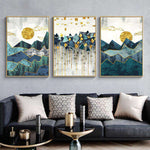 3 PCS Nordic Abstract Geometric Mountain - Artisary