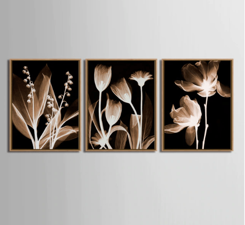 3 Pcs/Set Artist Modern bedroom flower
