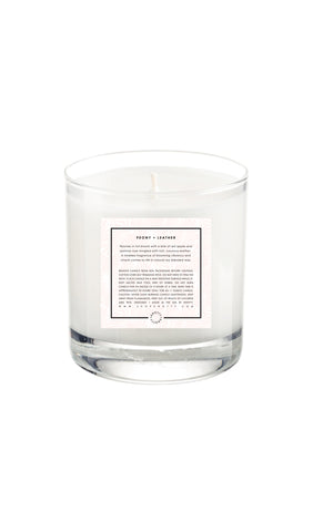 Soy Candle | Peony + Leather