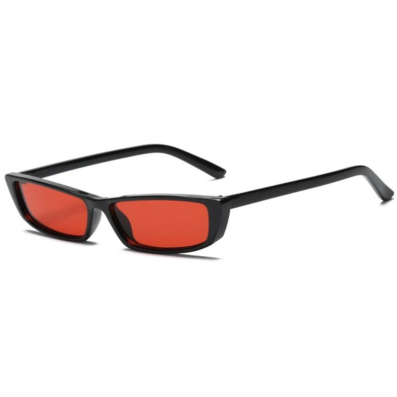 Rectangle Sunglasses Women Men Square Black Red Cat Eye Sunglasses Vintage Shades xx078
