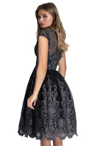 Lace Embroidered Prom Dress