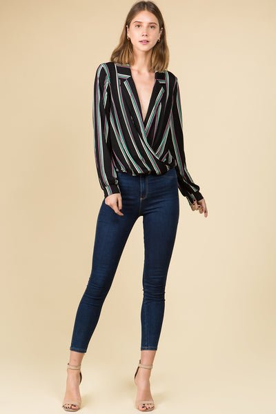 LONG SLEEVE SURPLUS STRIPED TOP