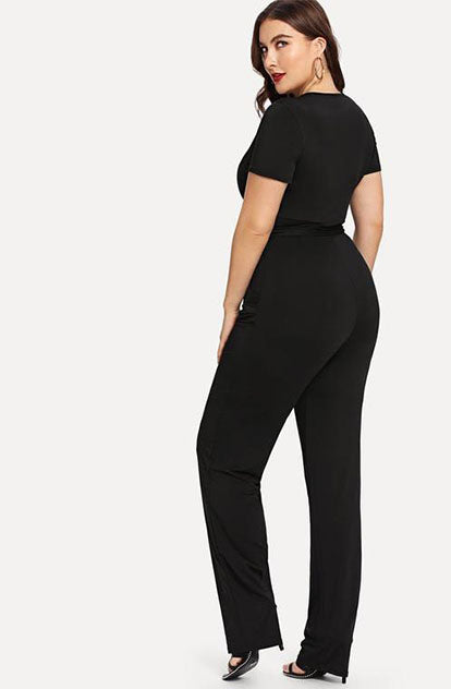 Oh so Sassy Jumpsuit in Black back