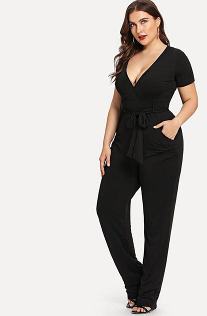 Oh so Sassy Jumpsuit in Black front