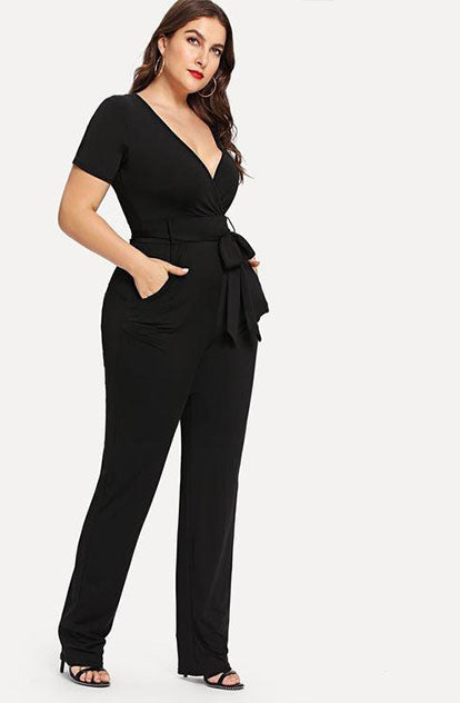 Oh so Sassy Jumpsuit in Black