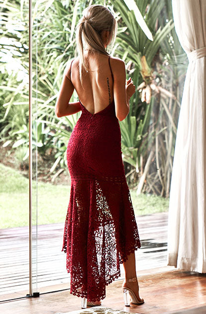 Persian Dress Burgundy back