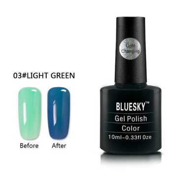 003 - Bluesky LIGHT COLOUR CHANGE UV/LED - Gel Nail Polish 10ml