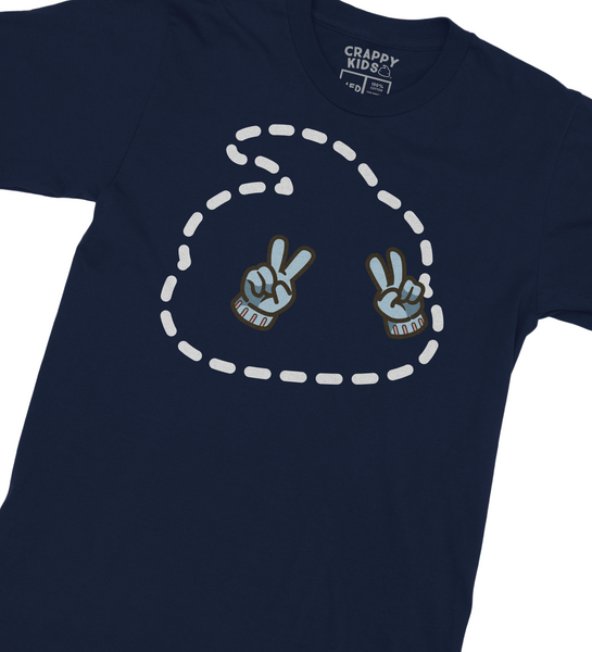 Invisible Poop Girl T-Shirt (Midnight Navy)