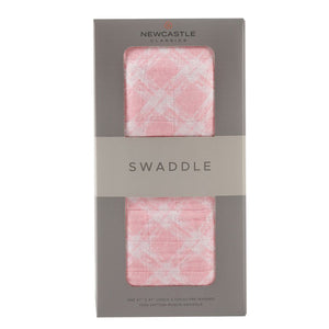 Newcastle Classics - Primrose Pink Plaid Swaddle