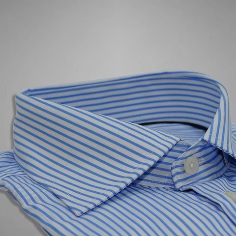 Sky Blue Striped Poplin Shirt
