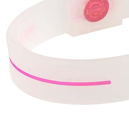 Silicone Sport Wristband - Breast Cancer Awareness (Translucent/Pink)