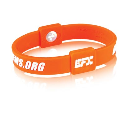 Silicone Sport Wristband - Erase MS (Orange/Wht)