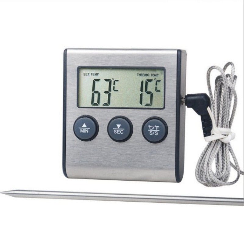 Stainless Steel Kitchen Food Thermometer with Timer - Kitchen Ideas Store