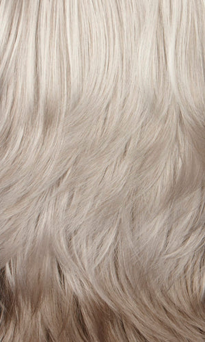 60H - Silver white on top mixed with 25% light brown in back
