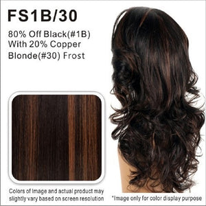 Vivica Fox Wigs | 80% Off Black with 20% Copper Blonde Highlights 1FS1B/30