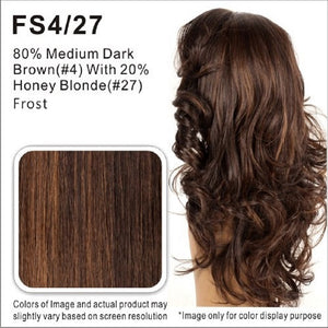 Vivica Fox Wigs | 80 % Medium Dark Brown with 20% Honey Blonde Highlights FS4/27