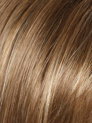Rene of Paris Wigs | MAPLE SUGAR | Light Honey Brown Base and Strawberry Blonde Highlights