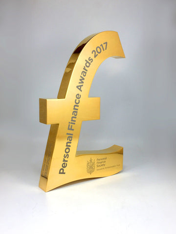 Gold Pound Sign Award