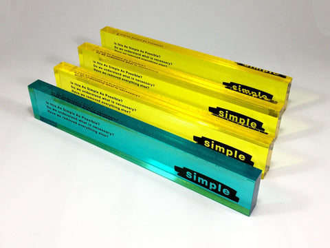 Neon Rulers Bespoke Acrylic Awards Creative Awards