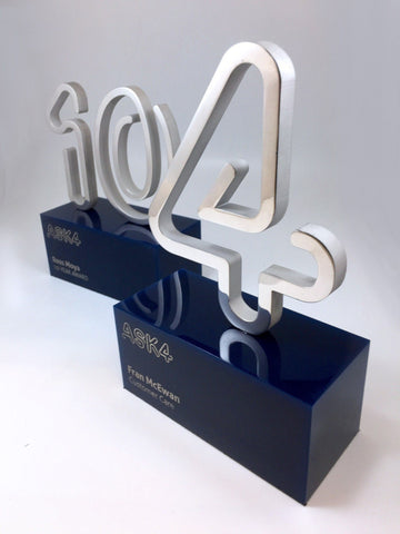 10 & 4 Aluminium and Acrylic Awards