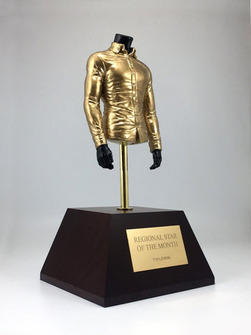 Cast Resin Gold Shirt Award