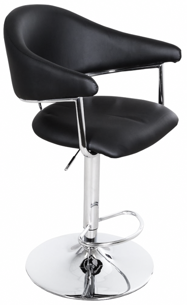 Airstream Adjustable Height Barstool in Black | Whalen Furniture