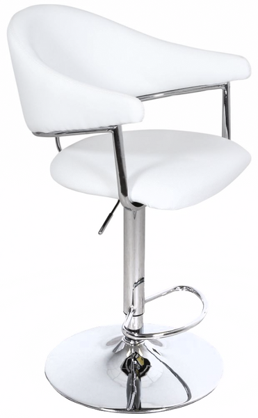 Airstream Adjustable Height Barstool in White | Whalen Furniture