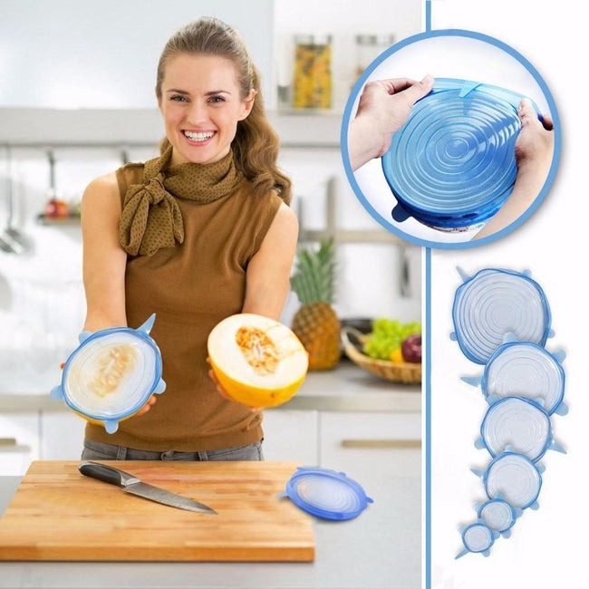 6 Piece Universal Silicone Lids-American Aura